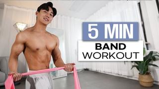 5min Sexy Hip & Shoulder Home Workout (Resistance Band Tabata) l 밴드 하나로 몸짱 만드는 운동 // 5분 섹시힙 & 어깨 타바타