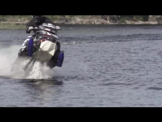 StuntFreaksTeam - Snowmobile On Water (Watercross).mp4