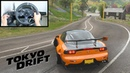 Forza Horizon 4 Han's Mazda RX-7 (Steering Wheel Shifter) Tokyo Drift Gameplay