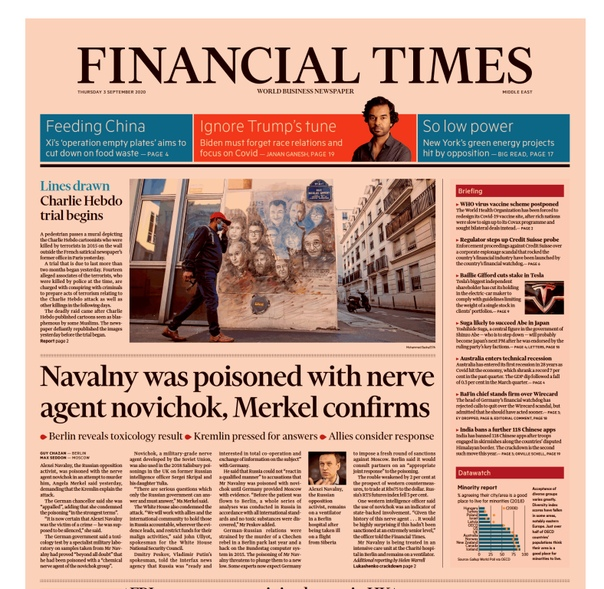 Financial Times Asia. September 03, 2020
