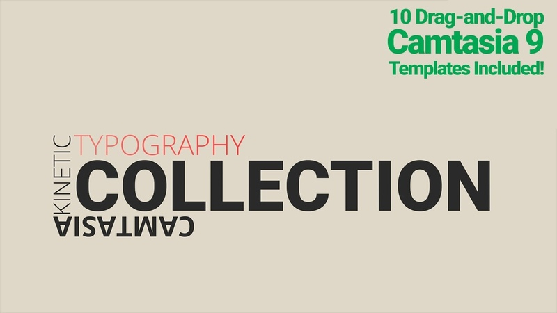 Camtasia Kinetic Typography Templates 10 Kinetic Typo templates for Camtasia