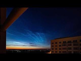 Серебристые облака. Ночь с 12 на 13 июля 2021.