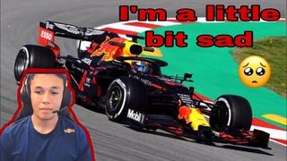 ALEX ALBON heartbreaking reactions on his Redbull seat on his Twitch live   Austrian Virtual GP