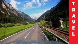 Автопутешествие по Швейцарии: Innertkirchen - Brienzersee - Interlaken - Grindelwald   4K