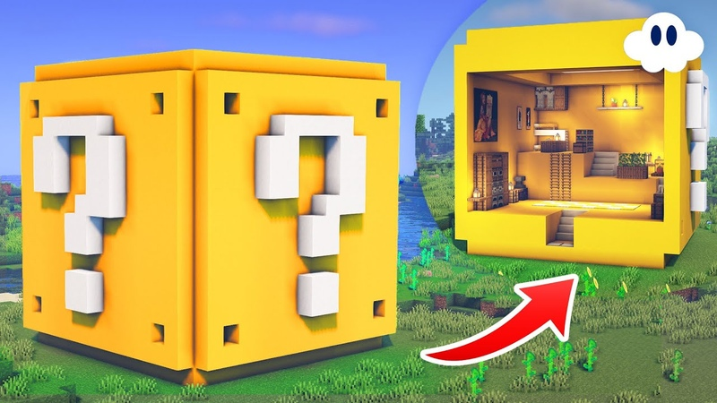 Minecraft How to Build a Lucky Block House Mystery Block