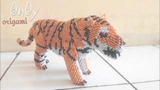 Papercraft 3d origami tiger tutorial part 1