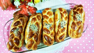 Турецкие булочки Поача с брынзой  хороши к завтраку!  / Turkish buns with cheese