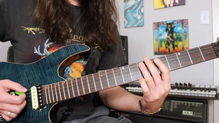 That dang Metallica Frayed Ends of Sanity bridge riff (before solo) lesson Weekend Wankshop 142