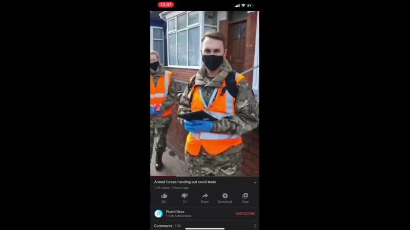 UK - l'armée frappe aux portes pour intimider les citoyens afin qu'ils se fassent tester pour le covid