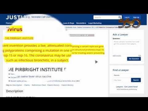 Coronavirus Patent 10 130 701 Bill Melinda Gates Foundation