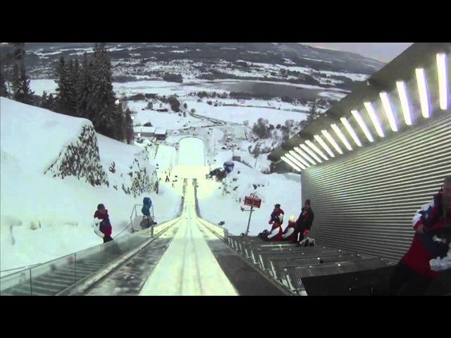 Vikersund skiflying 192 m POV