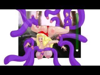 Красная шапочка Катя Самбука трахнута в Новый Год. Прохождение игры, огромные сиськи. Секс и порно. Tentacles sex and porn
