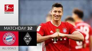 39 Goals! Hat-Trick for Lewandowski   FC Bayern München - Borussia M'gladbach   6-0   All Goals