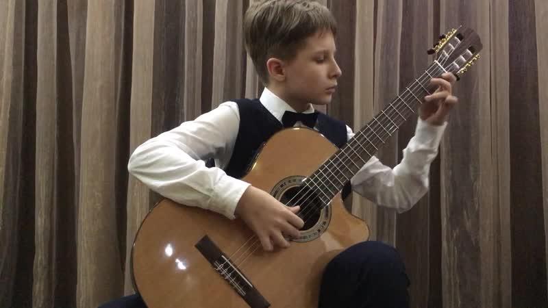 Сумкин Фёдор 11 лет Инструментальное исполнительство Гитара М Блантер На безымянной высоте