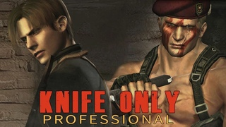 Resident Evil 4 HD Professional - Krauser Boss Fight - Knife Only - No Damage (New Version)