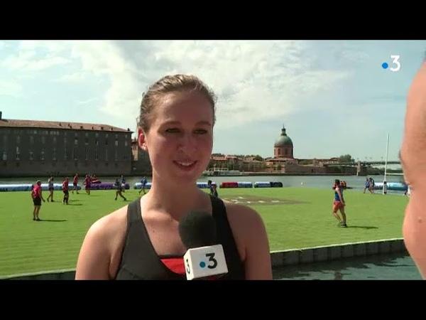 Toulouse : premier tournoi de Waterugby visible depuis le quai de la Daurade