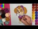 Как нарисовать Скай из мультика Щенячий патруль.Paw patrol drawing Skye. Простые рисунки для детей.