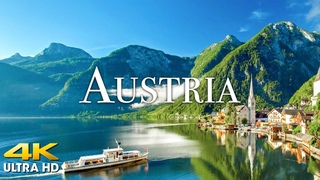 FLYING OVER AUSTRIA (4K UHD) Amazing Beautiful Nature Scenery with Relaxing Music (4K Video UltraHD)