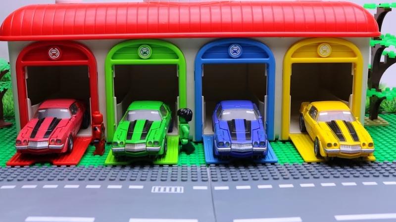 Bumblebee Change Color Transformers Tobot Mini Robot Stop motion Lego Gym Fail Car