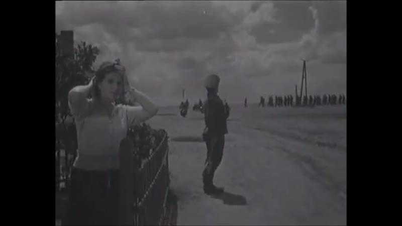Оккупация русской деревни фашистами Сцена из к ф Молодая гвардия 1948