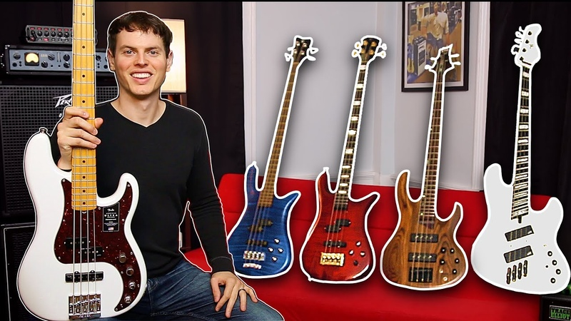 BASS GUITAR COMPARISON - Fender, Warwick, Spector, ESP, Mayones