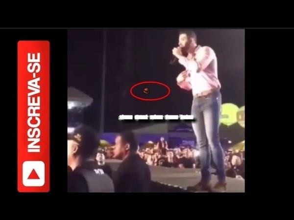 F joga bebida em Gusttavo Lima e o cantor tem uma rea o inesperada