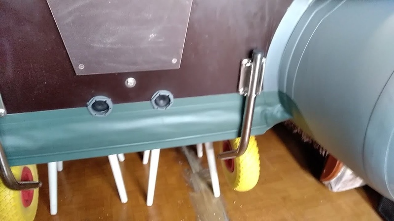 Установка быстросъемных транцевых колес на лодку ПВХ Ракета
