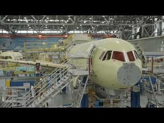 Крыло из российских композиционных материалов установлено на самолет МС-21-300