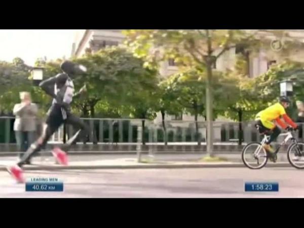 Dennis Kimetto Slow Motion 2014 Berlin Marathon