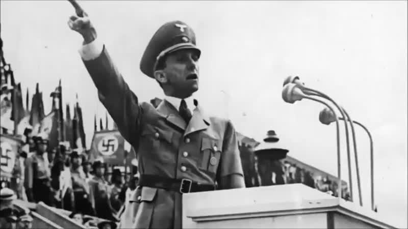 Dr Goebbels warns germans about world jewry
