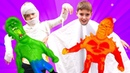 Сладость или шалость Веселый Хэллоуин с MONSTER FLEX - тянущиеся игрушки фигурки для мальчиков!
