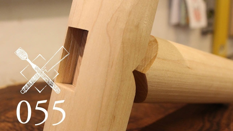 Joint Venture Ep. 55: Mitered through mortise and tenon in round stock (Joinery)