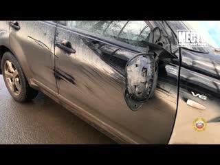 Обзор аварий. Киа Рио сбил двух женщин на Луганской. Место происшествия