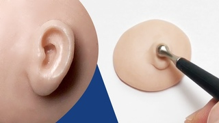 How to Sculpt an Ear from Polymer Clay - QUICK & EASY TUTORIAL