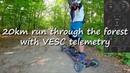 20km run with VESC telemetry on diy mountainboard.