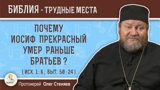 Почему Иосиф Прекрасный умер раньше братьев ? (Исх.1:6)  Протоиерей Олег Стеняев