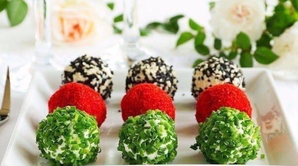 9 Закусок в виде шариков