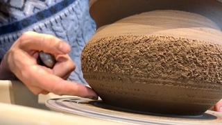 🍯 Дикая неочищенная Глина из леса Крутим фактуристый горшок Гончарная школа Волшебство керамики