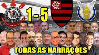 Todas as narrações - Corinthians 1 x 5 Flamengo | Campeonato Brasileiro 2020