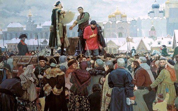 17 сентября 1773 г. - Начало восстания под предводительством Емельяна Пугачева Емельян Пугачев, принявший имя императора Петра III, обнародовал 17 сентября 1773 года манифест, в котором призывал