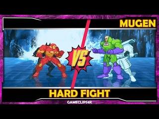 Iron Man and Batman Beyond Vs Lex Luthor and Silver Samurai [Hard Fight] MUGEN CHAR