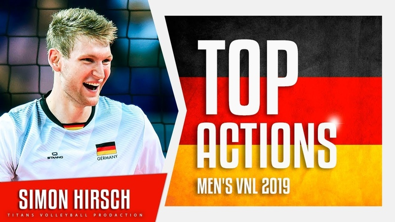 Simon Hirsch | Best Aсtions VNL 2019 | German National Team