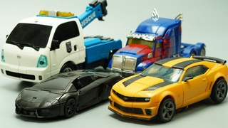 Stop Motion TRANSFORMERS - Lockdown vs Optimus Prime, Bumblebee & Tobot Robots Lego IRL Film!