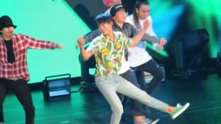 So cute!! Park Bo Gum dances to What Is Love, Pretty U (HD Live in Manila)