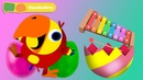 Learning First Words w Larry The Bird Xylophone Sensory Stimulation for Babies First University