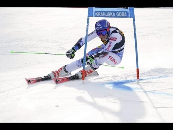 Michal Matura FIS Alpine Skiing World Cup Women's Giant Slalom Run 1 Kranjska Gora SLO 2020 опублик 15 02 2020 г