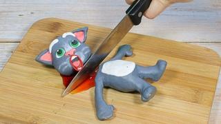 Talking Tom 베이비 토킹 톰 : 먹방 매운맛 도전/ 스톱모션 요리 &Stop Motion Cooking ASMR Funny Video