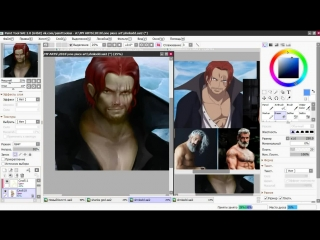 SPEEDPAINT  Akagami no Shanks from One piece
