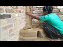 Mitti ka chulha|village style mitti Ka chulha primitive technology making clay ovenmitti Ka chulha