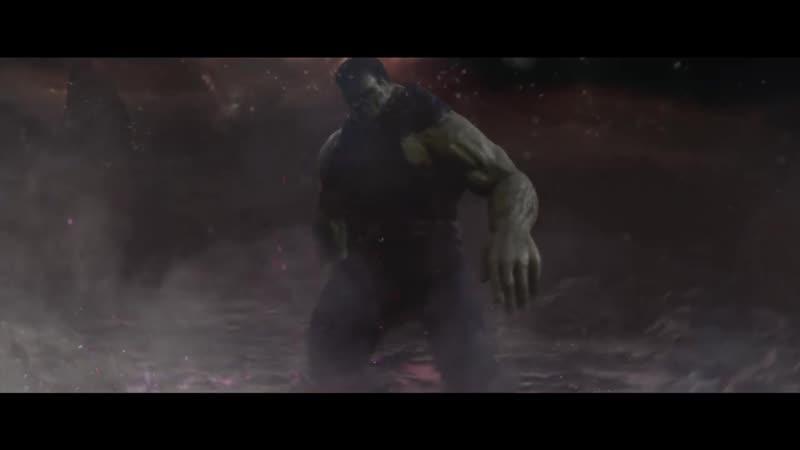 Танос против Логана Дэдпула Халка Капитана Марвел Железного Человека и ХалкБастера